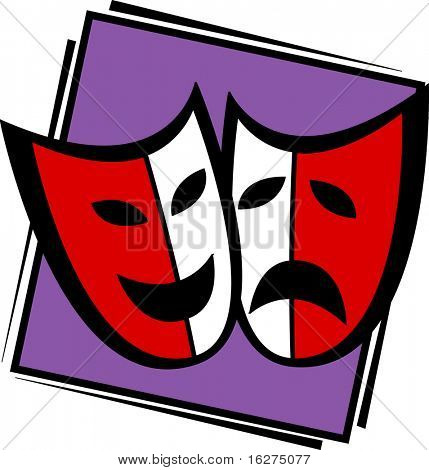 sad and happy theater masks