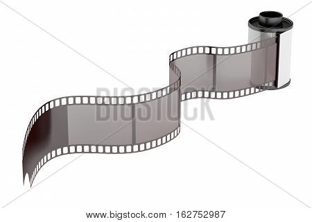 camera film roll 35mm 3D rendering isolated on white background