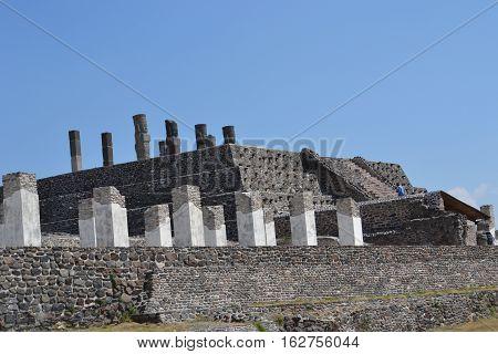 Atlantean Toltec warrior  Figures on top of a pyramid located in Tula de Allende, Hidalgo, Mexico