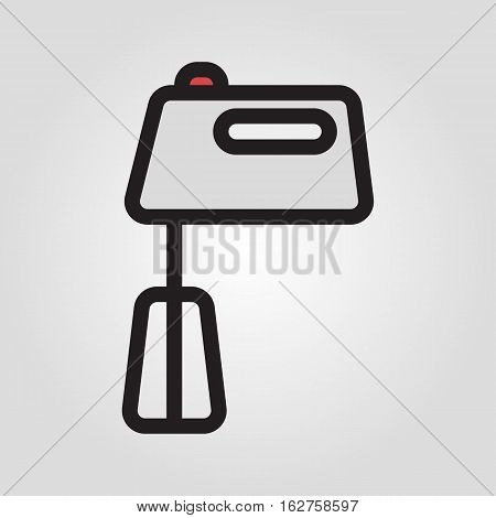 Hand mixer icon in trendy flat style isolated on grey background. Kitchen symbol for your design, logo, UI. Vector illustration, EPS10.