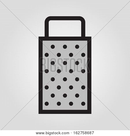 Grater icon in trendy flat style isolated on grey background. Kitchen symbol for your design, logo, UI. Vector illustration, EPS10.