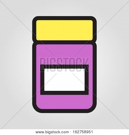 Jam jar icon in trendy flat style isolated on grey background. Kitchen symbol for your design, logo, UI. Vector illustration, EPS10.