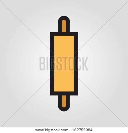 Rolling pin icon in trendy flat style isolated on grey background. Kitchen symbol for your design, logo, UI. Vector illustration, EPS10.