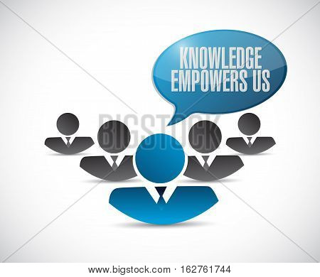 Knowledge Empowers Us Teamwork Sign Concept
