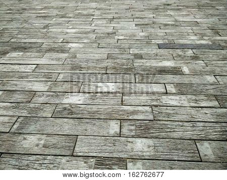 background of cement block walkway , walkway