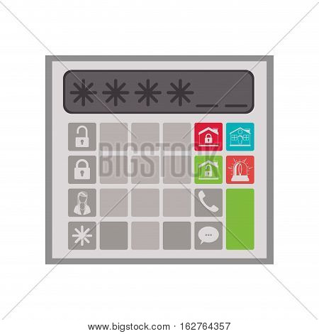 House password icon. Insurance security protection and safety theme. Isolated design. Vector illustration