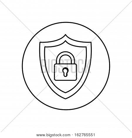 Padlock icon. Insurance security protection and safety theme. Isolated design. Vector illustration