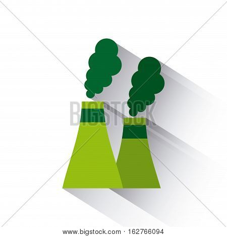 factory plant icon over white background. colorful design. vector illustration