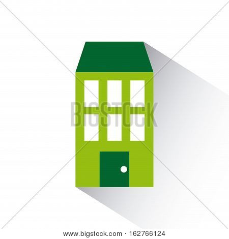 green house icon over white background. colorful design. vector illustration