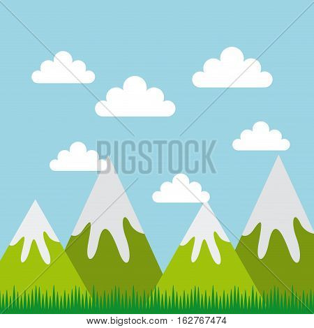 mountains landscape. colorful design. vector illustration EPS10