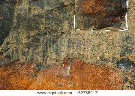 A rusty zinc board photo taken in Bogor Indonesia java poster