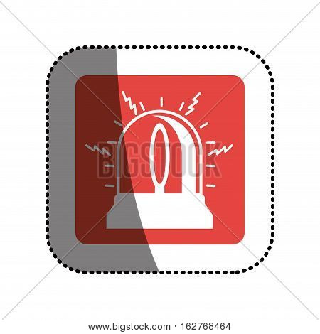 Alarm icon. Insurance security protection and safety theme. Isolated design. Vector illustration