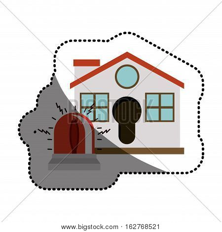 House and alarm icon. Insurance security protection and safety theme. Isolated design. Vector illustration