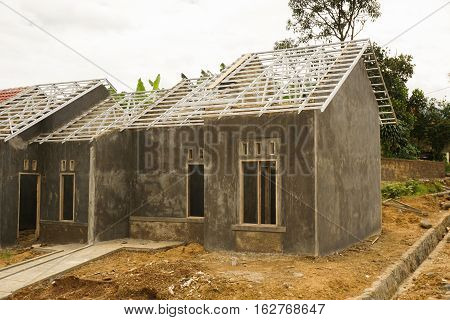 Construction of a little house photo taken in Bogor Indonesia java