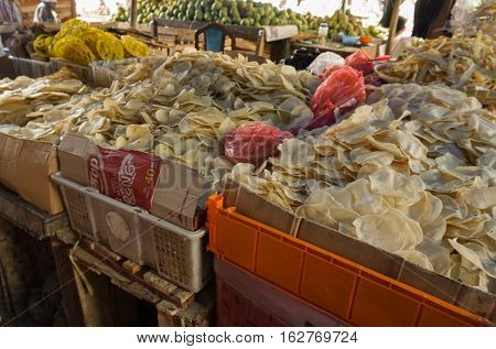 Various raw crackers photo taken Bogor Indonesia java