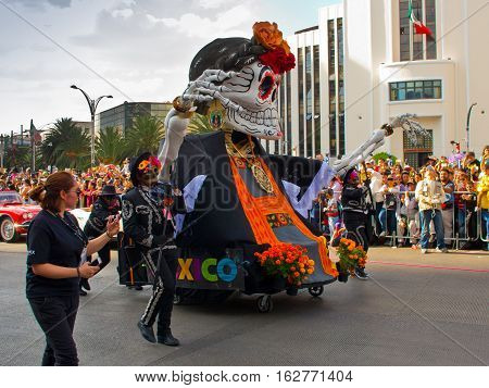 Day Of The Dead Parade In Mexico City.
