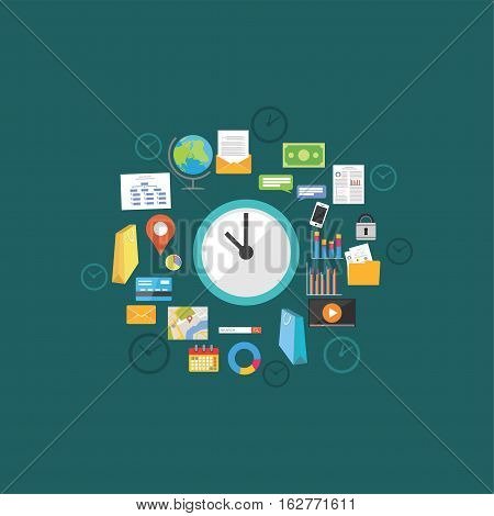 Abstract time management concept illustration. Time icon.