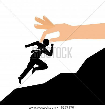 hand with money runner icon over white background. vector illustration