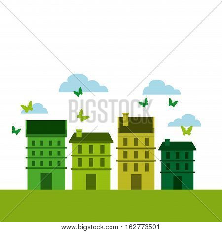 green city concept. colorful design. vector illustration