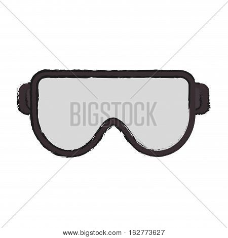 Glasses icon. Industrial security safety and protection theme. Isolated design. Vector illustration
