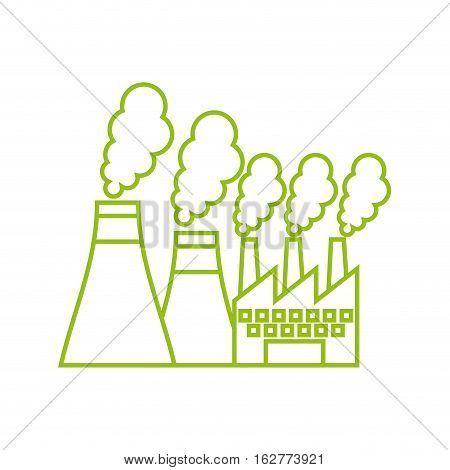 factory building icon over white background. vector illustration