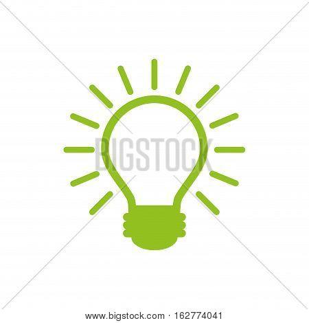 light bulb icon over white background. colorful design. vector illustration