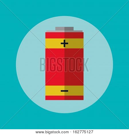 Battery inside circle icon. Energy power technology and charge theme. Colorful design. Vector illustration