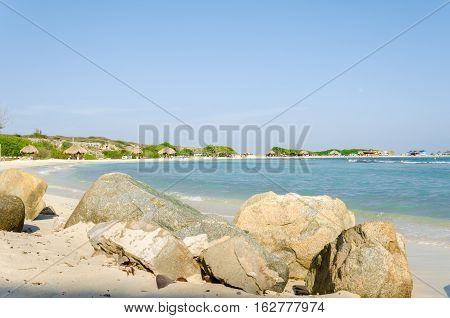 Amazing View From Baby Beach On Aruba Island