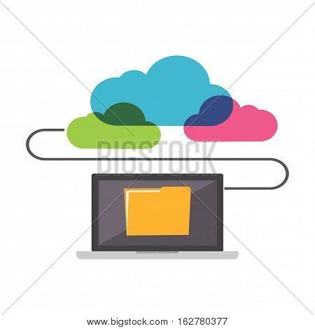 Online Storage. Cloud storage. File Sharing concept.