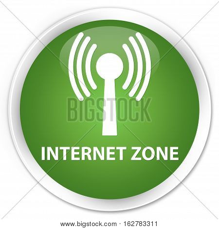 Internet Zone (wlan Network) Premium Soft Green Round Button