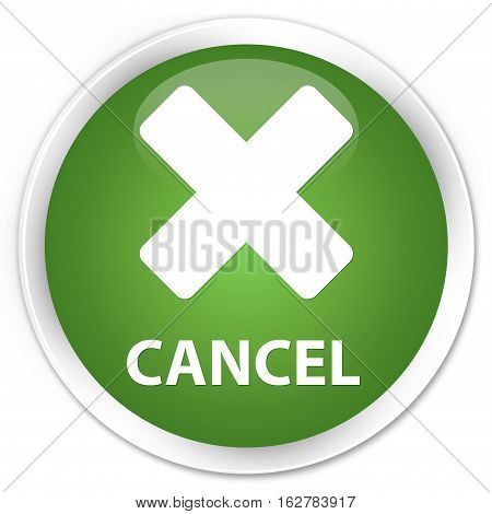 Cancel Premium Soft Green Round Button
