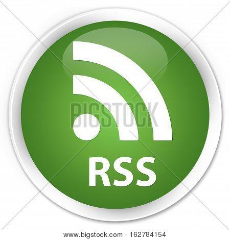 Rss Premium Soft Green Round Button