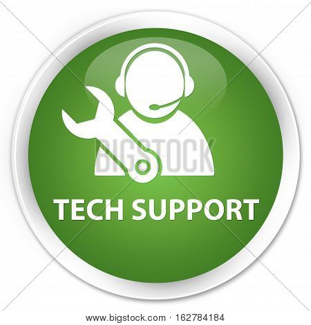 Tech Support Premium Soft Green Round Button