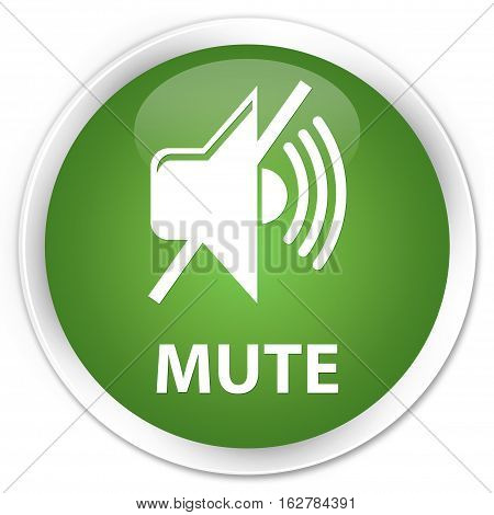 Mute Premium Soft Green Round Button