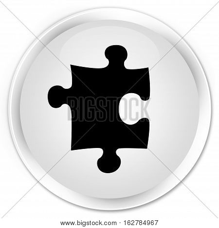 Puzzle Icon Premium White Round Button