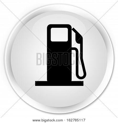 Fuel Dispenser Icon Premium White Round Button