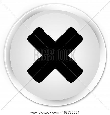 Cancel Icon Premium White Round Button