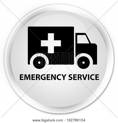 Emergency Service Premium White Round Button