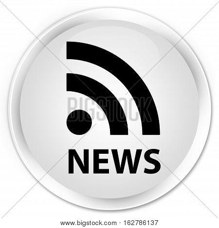 News (rss Icon) Premium White Round Button