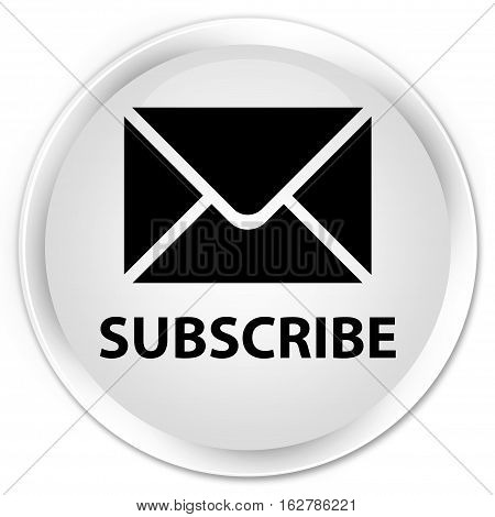 Subscribe (email Icon) Premium White Round Button