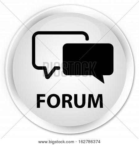 Forum Premium White Round Button