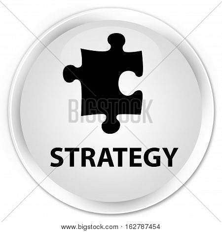 Strategy (puzzle Icon) Premium White Round Button