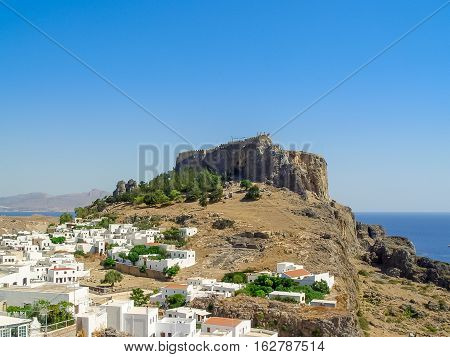 Lindos On The Greek Island Of Rhodes