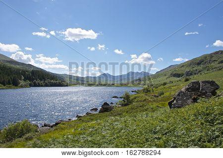 Capel Curig Lake Snowdonia In North Wales