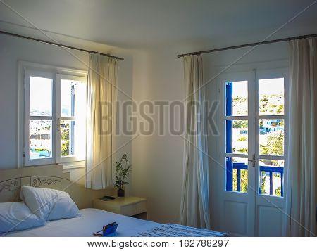 Interior Of A Hotel In Chora A Popular Island Landmark