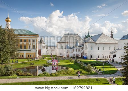 ROSTOV, RUSSIA -  SEPTEMBER 03, 2016: Rostov Kremlin. Rostov is one of the oldest town in the Russia and tourist center of the Golden Ring