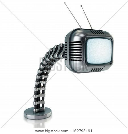 Sci-fi tv in retro style 3d render