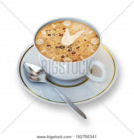 cup of coffe   isolated on a white background