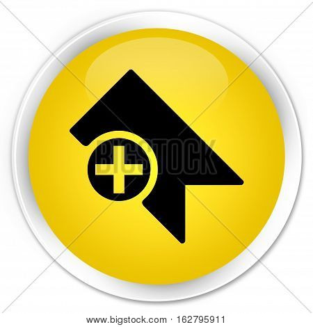 Bookmark Icon Premium Yellow Round Button