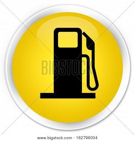 Fuel Dispenser Icon Premium Yellow Round Button